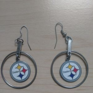 Kay Jewelers NFL Steelers .925 silver earrings